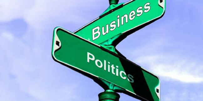 Image Representing Signpost Which Denoted Politics and Business.